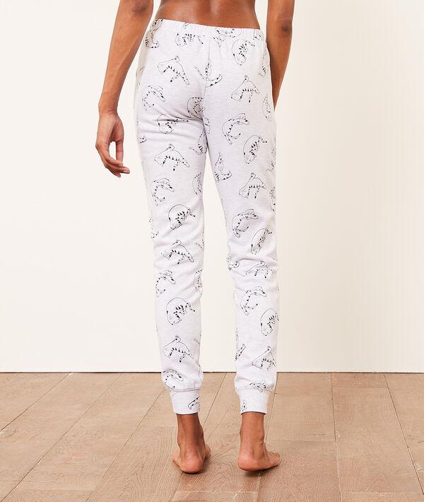 Pantalón pijama estampado gatos;${refinementColor}