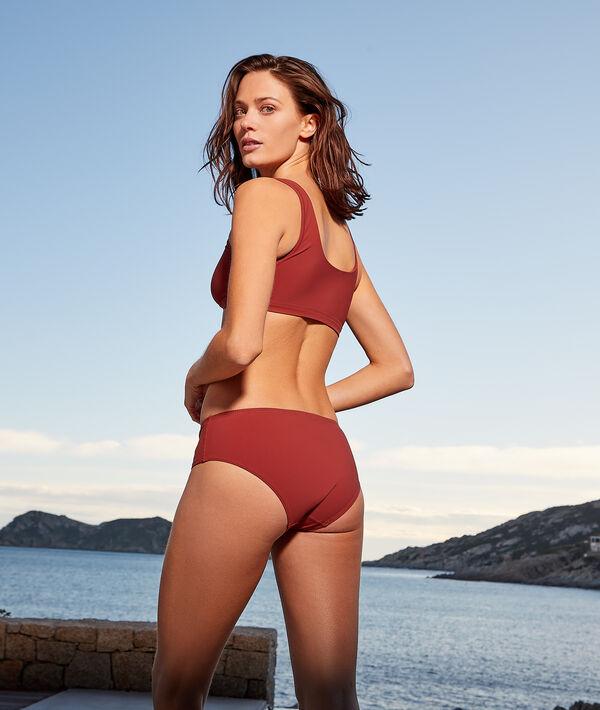 Top bikini sin aros, escote cuadrado;${refinementColor}