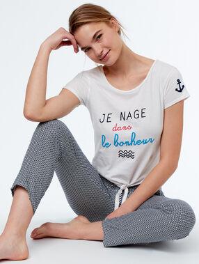 Camiseta con mensaje crudo.