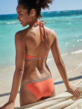 Braguita bikini franja multicolor coral.