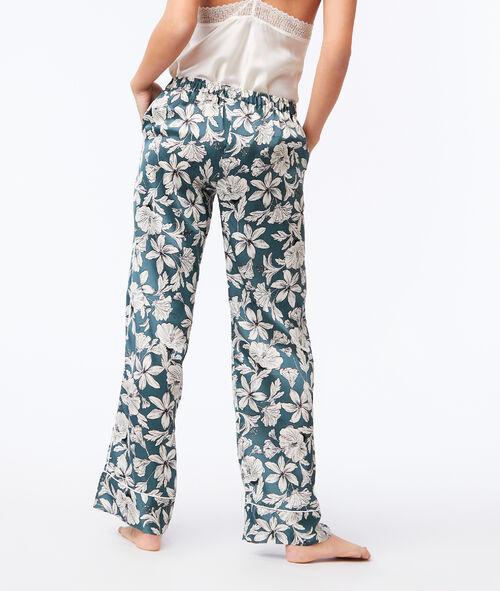 Pantalón largo holgado estampado floral