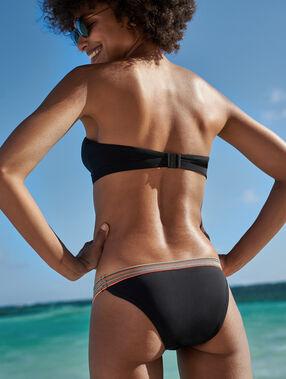 Braguita bikini franja multicolor negro.