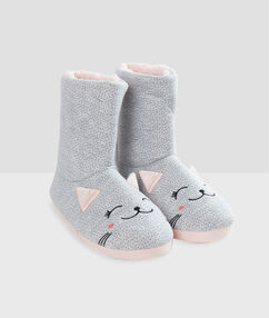 Zapatillas tipo botines ratoncito c.gris.