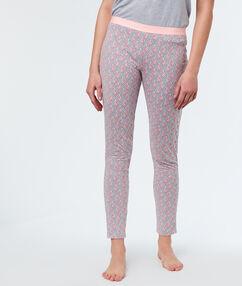 Pantalón estampado flamencos c.gris.
