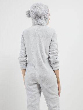 Mono tejido peluche perro con forro interior c.gris.