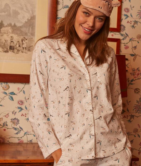 Camisa pijama estampado pájaros