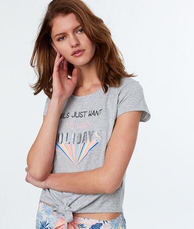 Camiseta holidays c.gris.