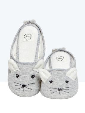 Zapatillas ratón c. gris.