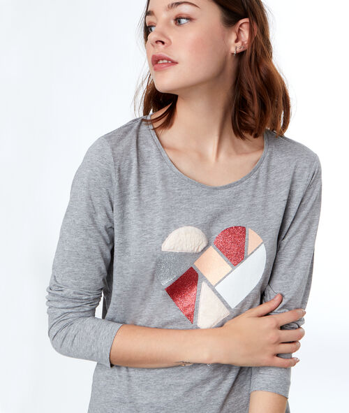 Camiseta manga larga corazón
