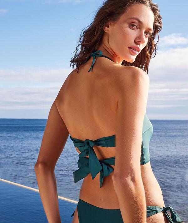 Top bikini bandeau sin aros;${refinementColor}