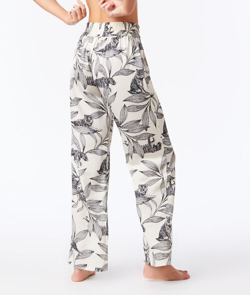 Pantalón pijama estampado jungla