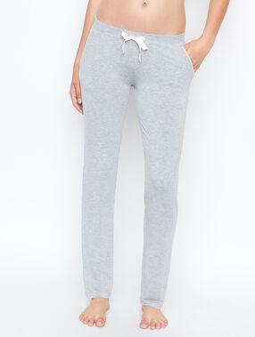 Pantalón estampado tipo jogging c.gris.