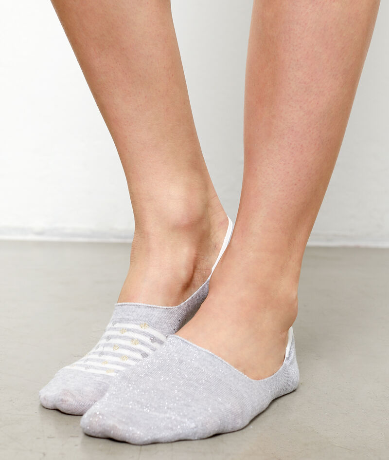 2 pares de calcetines fantasía efecto invisible;${refinementColor}