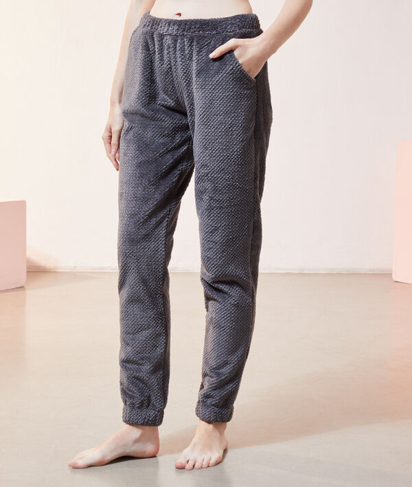 Pantalon polaire homewear;${refinementColor}