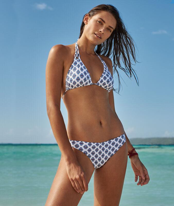 Braguita bikini estampado gráfico imp blanco.