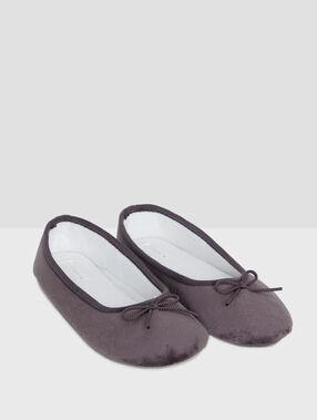 Zapatillas tipo bailarina c.gris.