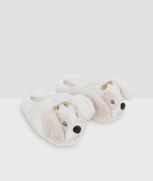 Zapatillas tejido peluche perritos