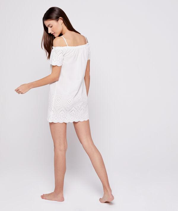 Camisón algodón bordado