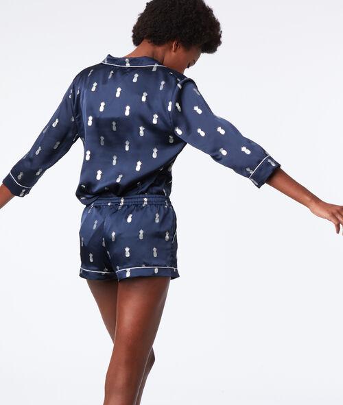 Camisa pijama piñas plateadas