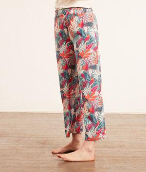 Pantalón pijama estampado tropical;${refinementColor}