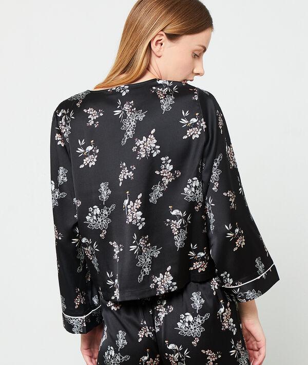 Camisa pijama escote cruzado