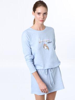 Camisón estampado unicornio azul.