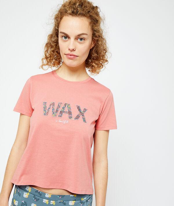Camiseta manga corta estampado 'wax';${refinementColor}