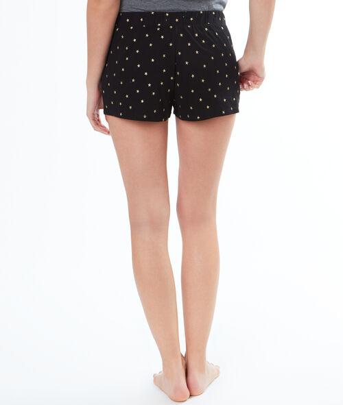 Pantalón corto estampado estrellas