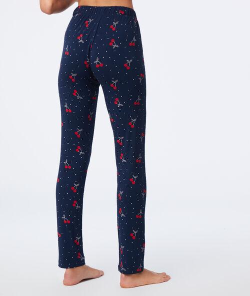 Pantalón pijama estampado cerezas