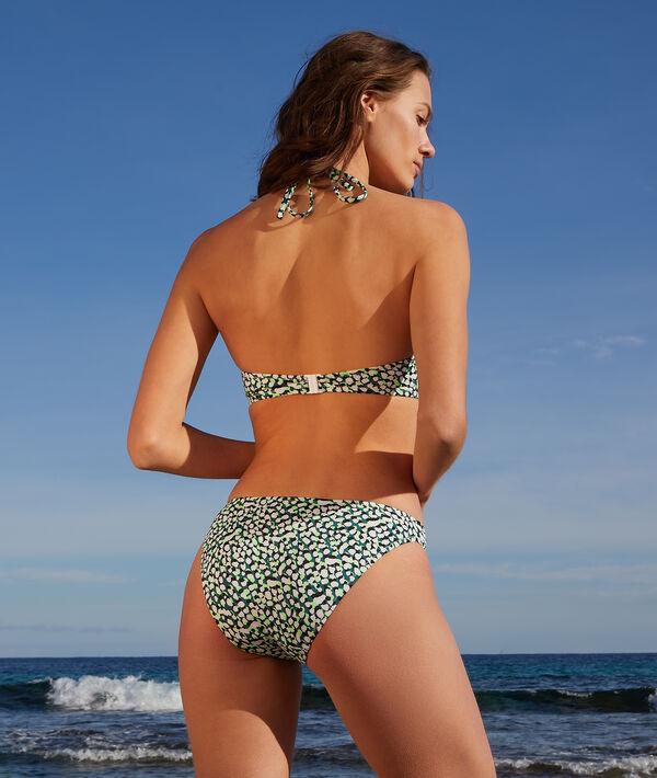 Sujetador bikini triángulo estampado;${refinementColor}