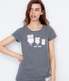 Camiseta estampado monstruos c.gris.