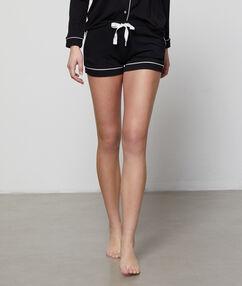 Pantalón corto bicolor negro.