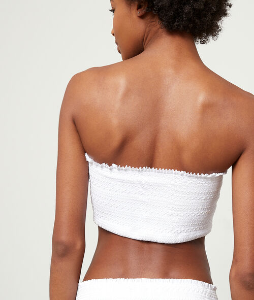 Sujetador bikini bandeau suave relieve