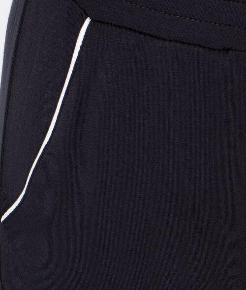 Pantalón holgado bicolor