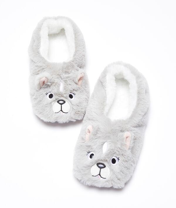 Zapatillas peludas perro