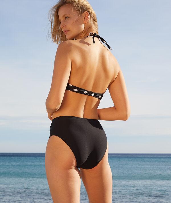 Sujetador bikini push up, estampado de lunares. Copa B;${refinementColor}