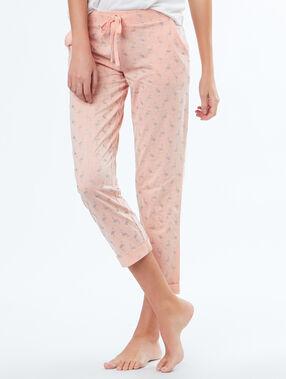Pantalón pirata flamencos rosa.