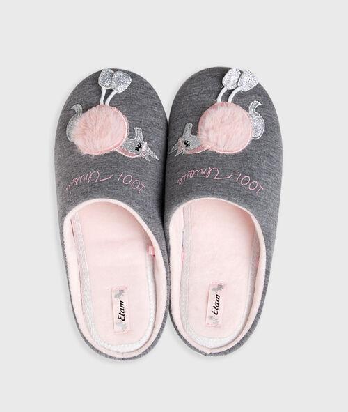 Zapatillas forma unicornio