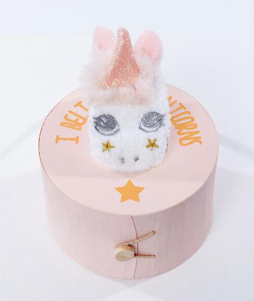Caja con calcetines unicornio