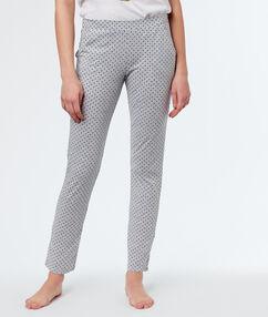 Pantalón largo estampado lunares c.gris.
