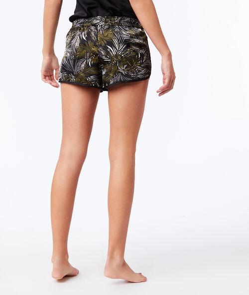 Pantalón corto estampado de hojas
