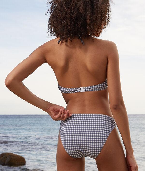 Sujetador bikini push up estampado vichy. Copa B-C;${refinementColor}