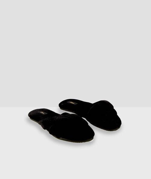 Zapatillas destalonadas de algodón
