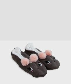 Zapatillas ratoncitos negro.