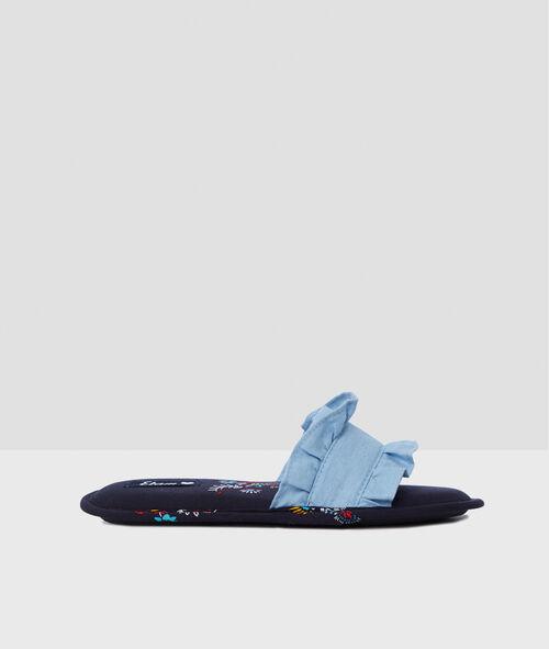 Zapatillas abiertas estampadas con volante
