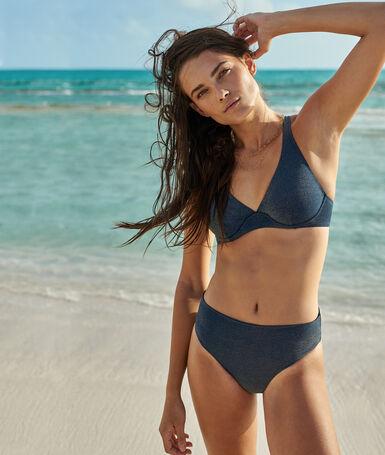 Braguita bikini multiposición azul noche.