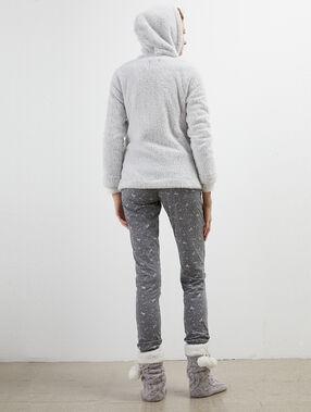 Pijama 3 piezas unicornio c.gris claro.