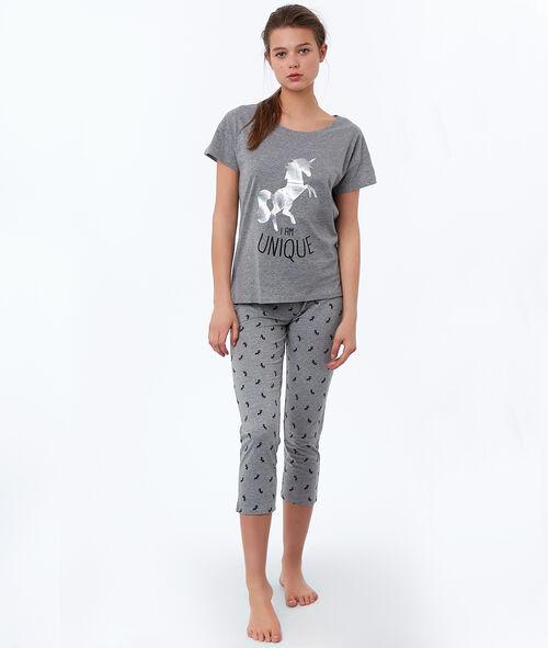Pantalón pirata estampado unicornios
