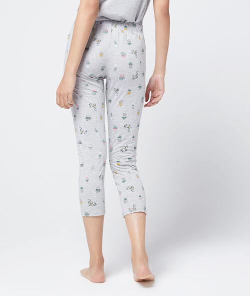 Pantalón capri estampado algodón orgánico