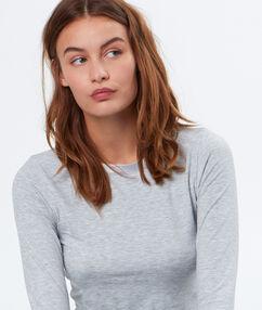 Camiseta isotérmica cuello barco c.gris.